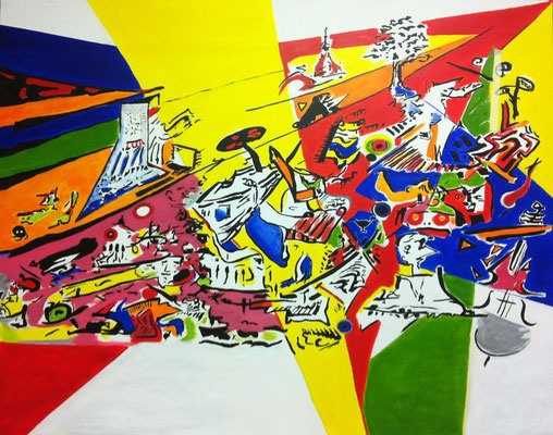Civilização decadente, acrylic on canvas, 2014, 180 x 230 cm