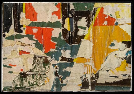 J. Sansepa, décollage, 13,9 x 20,2 cm, 2020