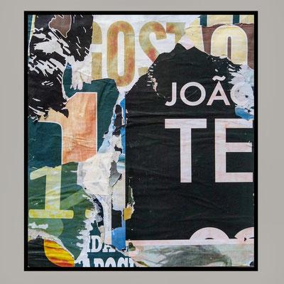 João, te gosto, décollage, 45,4 x 40,8 cm, 2020