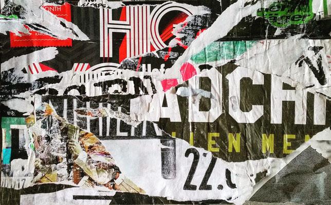 Décollage, Hamburg 22., 25 x 38 cm, 2017