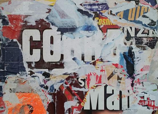 COBRA, Décollage, 22 x 30 cm, 2016