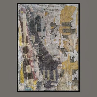 ELUM, décollage (retro d'affiche) with Schellack, 24,4 x 16,5 cm, 2020