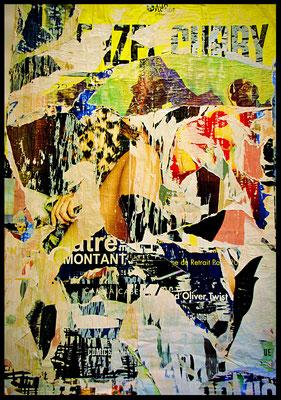 Tourbillon, Décollage, 116 x 81 cm, 2017