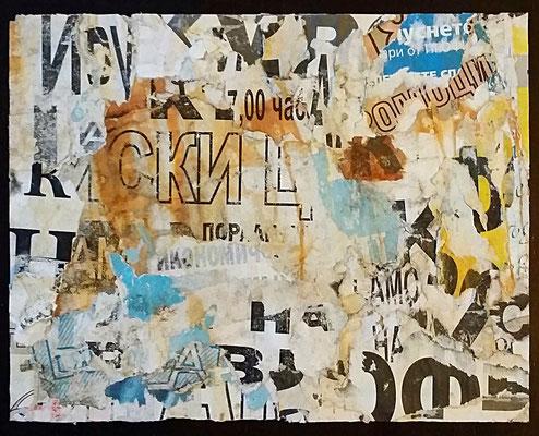 Economy, Décollage, 17,5 x 22,2 cm, 2016