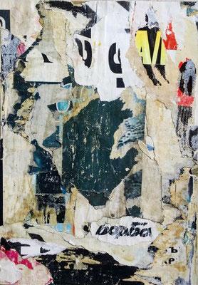 BORBA, décollage, 19,7 x 13,7 cm, 2019