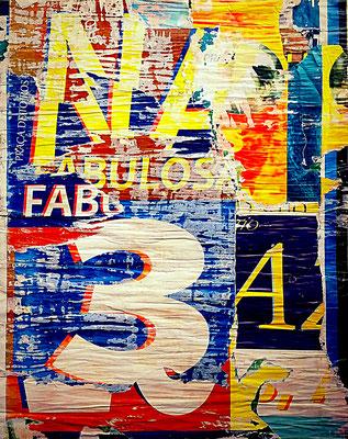 FABULOSA, décollage, 60,3 x 48 cm, 2018