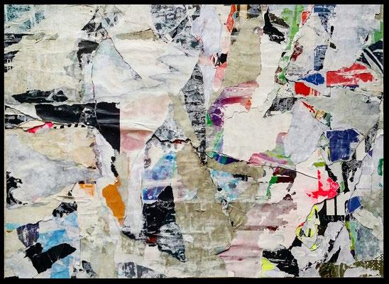 ruff, décollage, 27,6 x 37,5 cm, 2019