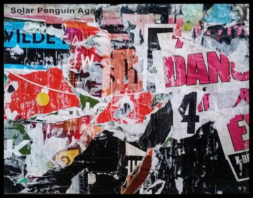 Solar Penguin, décollage, 39 x 30,7 cm, 2019