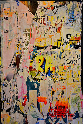 RA, Décollage, 150 x 93 cm, 2016