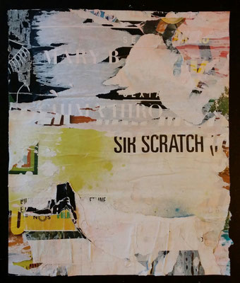"""SIR SCRATCH"", Décollage, 31 x 26 cm, 2016"