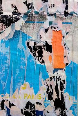 X PARIS, décollage, 22,6 x 15,3 cm, 2017