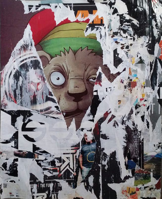 kurz, Décollage, České Budějovice, 83,5 x 51 cm, 2016