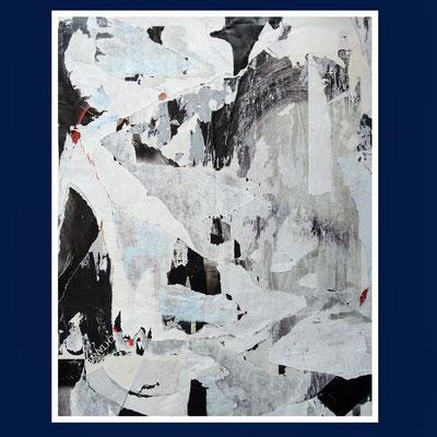 Zwölfzehn, décollage, 57 x 45 cm, 2020