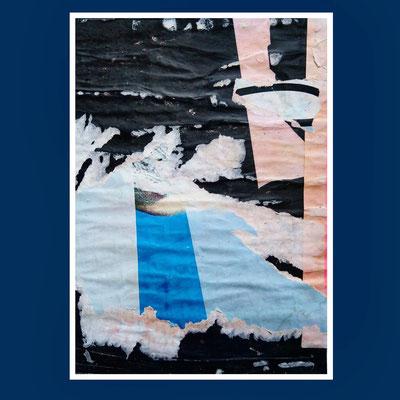 Beams, décollage, 31 x 22 cm, 2020