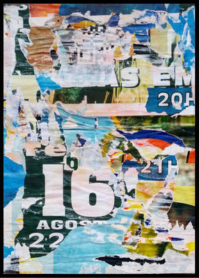 Nedda, décollage, 28 x 20,2 cm, 2019