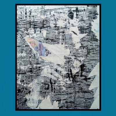Ash, décollage, 34,9 x 27,7 cm, 2020