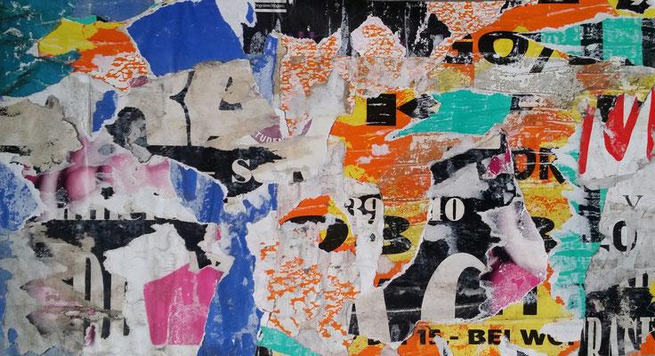 Schwabing, Décollage, 24,5 x 42,5 cm, 2016