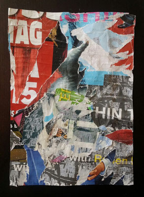 TAG - Vienna, 8. Bezirk (8th district), Décollage, 28 x 20 cm, 2016