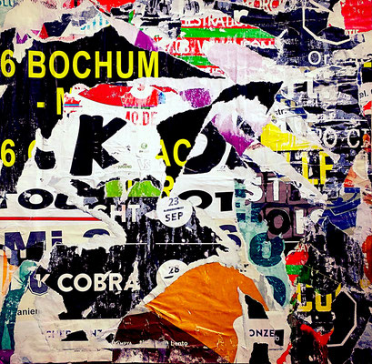 Bochum, décollage, 41,5 x 42,5 cm, 2018
