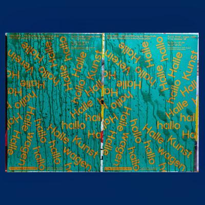 Kunst alle, décollage, 85 x 121 cm, 2021