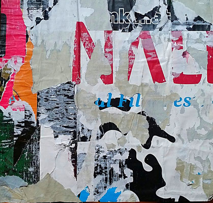 NALI, Décollage, 26,6 x 28,0 cm, 2017