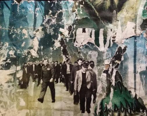 Monnem, Décollage/Collage, 24,5 x 31 cm, 2016