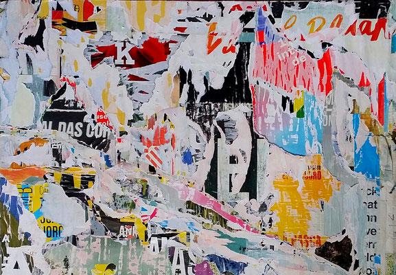 DoToJo, Décollage, 74,3 x 88,5 cm, 2017