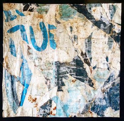 JU, décollage, 17,6 x 18,1 cm, 2018
