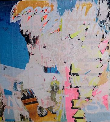 Aveiro, Décollage, 124 x 116 cm, 2016