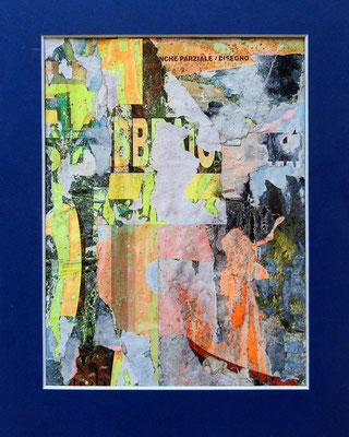 Parziale, décollage (retro d'affiche), 23,3 x 17,7 cm, 2021