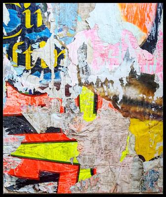 Attesa, décollage (retro d'affiche), 60,3 x 50,8 cm, 2020