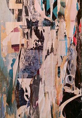 Фрагменти от живота, Décollage, 25 x 17 cm, 2016