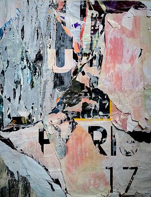 U PARIS 17, Décollage, 41,5 x 31,8 cm, 2017