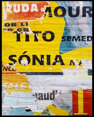 Rue d'Amour, décollage, 40,2 x 31,7 cm, 2019