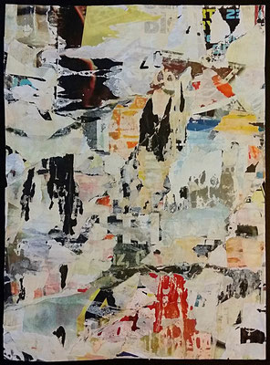 """23"", Décollage, 30 x 22,2 cm, 2016"