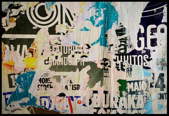 BURAKA, décollage, 26,5 x 38,5 cm, 2018