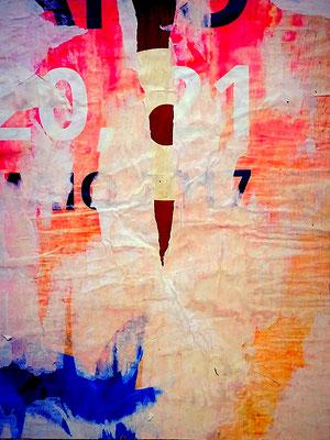 Picador, décollage, 44 x 33 cm, 2018
