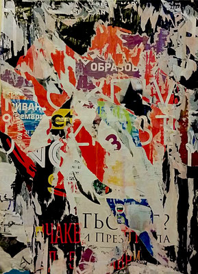 Iwan Obrasow, Décollage, 87,8 x 64,7 cm, 2016