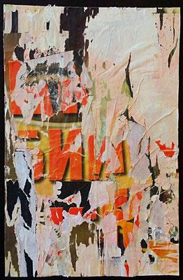 o.T., Décollage, 26,2 x 17 cm, 2016