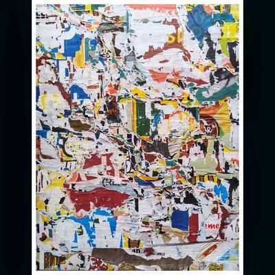 Achso, décollage, 69 x 52,5 cm, 2020