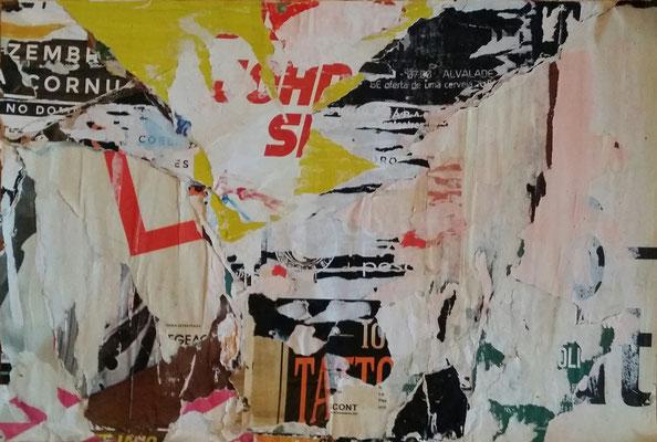 Bairro Alto, Décollage, 34,5 x 54,3 cm, 2016