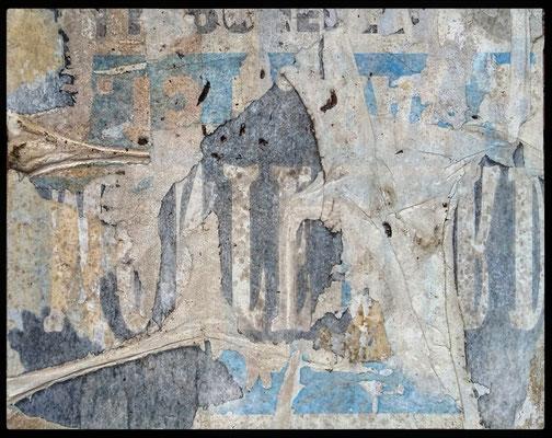Corno, décollage (retro d'affiche), 24,0 x 30,5 cm, 2020
