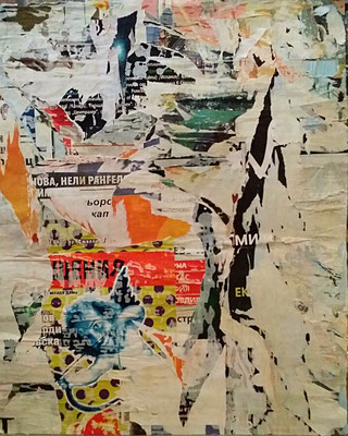 Amor, Décollage, 82 x 50,5 cm, 2016
