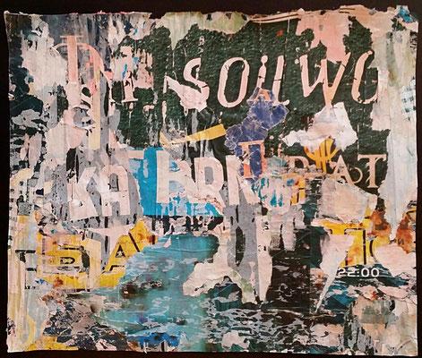 Kyrill, Décollage, 33,5 x 40 cm, 2016