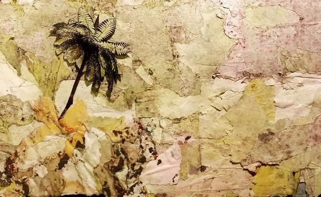 Décollage, Les Jardins de Mougins, 17.5 x 28 cm, 2015