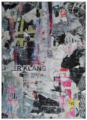 Kakofonie, décollage, 47,5 x 34,3 cm, 2019