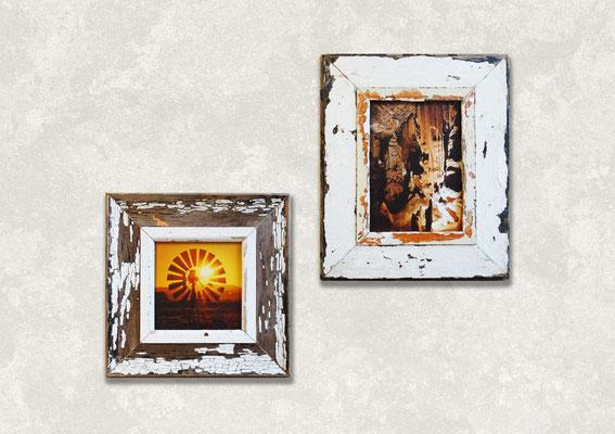 Due cornici in legno Cape Best con foto 15x20 con fiori