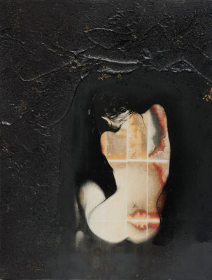 """@ ERIK BONNET : """"L'envers du désir"""", techniques diverses sur toile, 2011"""