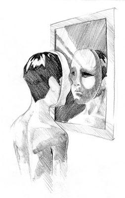 """Ilustração para o livro de poesia """"Sem Título"""" de Miguel Oliveira, © André Gonçalves"""