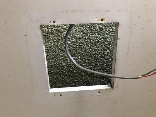 浴室換気扇(ダクト用)の交換工事の様子【新潟市】